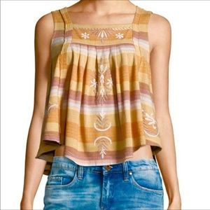 Free People | Vintage Stripe Swing Tank Top